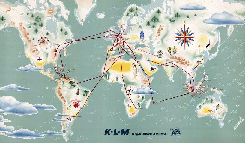 Flugrouten Karte.Karte Der Klm Royal Dutch Airlines Flugrouten Von World Maps