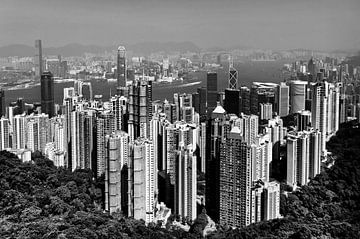 Classic view of Hong Kong Island sur