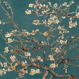 Amandelbloesem van Vincent van Gogh (Groenblauw) van Meesterlijcke Meesters