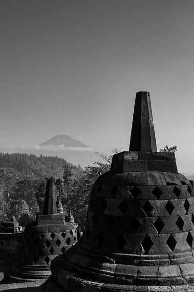 vue sur Borobudur sur Floor Schreurs