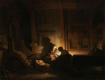 Die heilige Familie bei Nacht, Rembrandt van Rijn (Studio von)