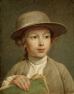 Jongen met een tekenboek, Nicolas Bernard Lépicié