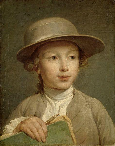 Jongen met een tekenboek, Nicolas Bernard Lépicié van Meesterlijcke Meesters