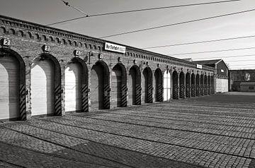 Old Tram Depot - Berlin - black & white van