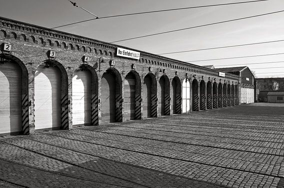 Old Tram Depot - Berlin - black & white