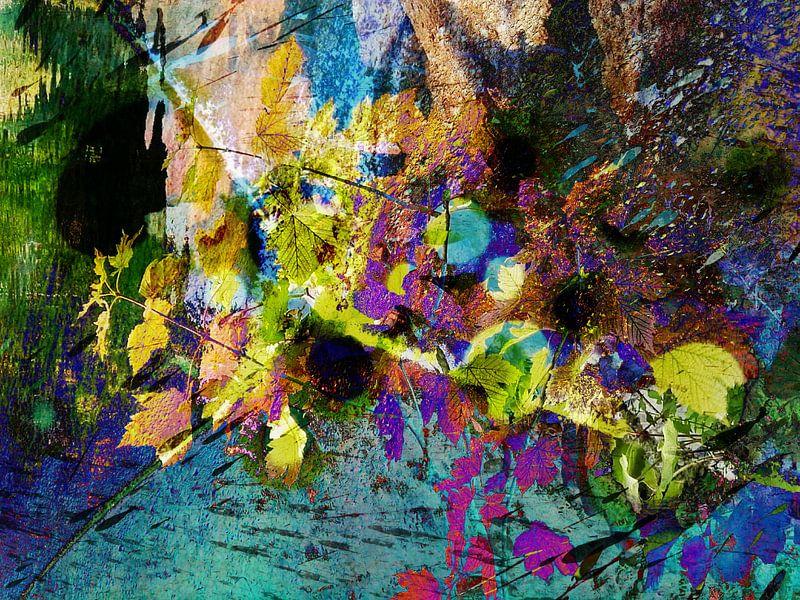 Modern, Abstract kunstwerk - Love And Stardust van Art By Dominic