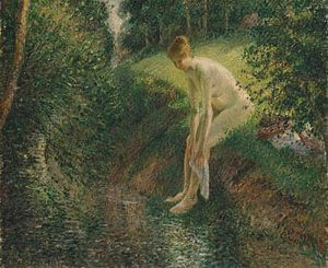 Zwemmer in the Woods, Camille Pissarro