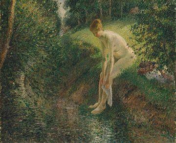Baigneuse dans les bois, Camille Pissarro sur