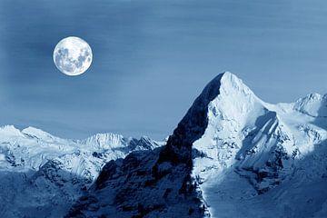Volle maan bij de Eiger van Gerhard Albicker