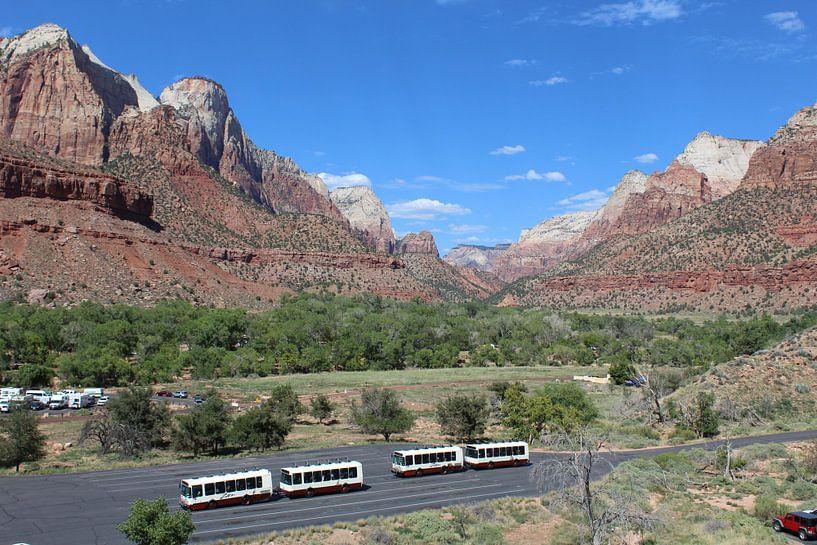 Zion Nationaal Park Verenigde Staten van Berg Photostore