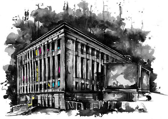 Berghain is a nightclub in Berlin, Germany.  van nilaya van vliet