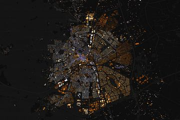 Kaart van Apeldoorn abstract van
