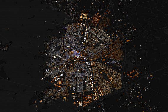 Kaart van Apeldoorn abstract van Stef Verdonk