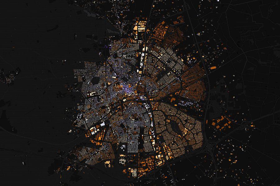 Kaart van Apeldoorn abstract