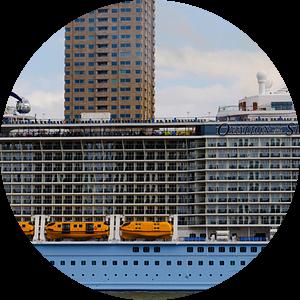Cruiseschip 'Ovation of the Seas' in Rotterdam | Panorama  van Willem van den Berge