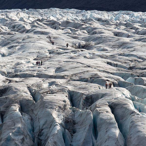 Gletsjerwandeling op Vatnajokull van Menno Schaefer