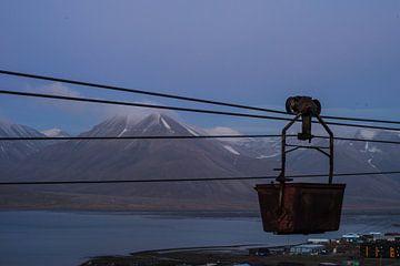 Kolenspoorweg op Spitsbergen van Kai Müller