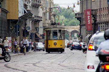 Tram in Milaan. van Maren Oude Essink