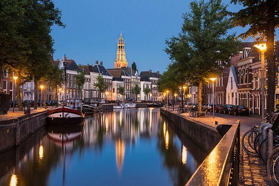 Hoge en Lage der Aa begin van de avond van Iconisch Groningen