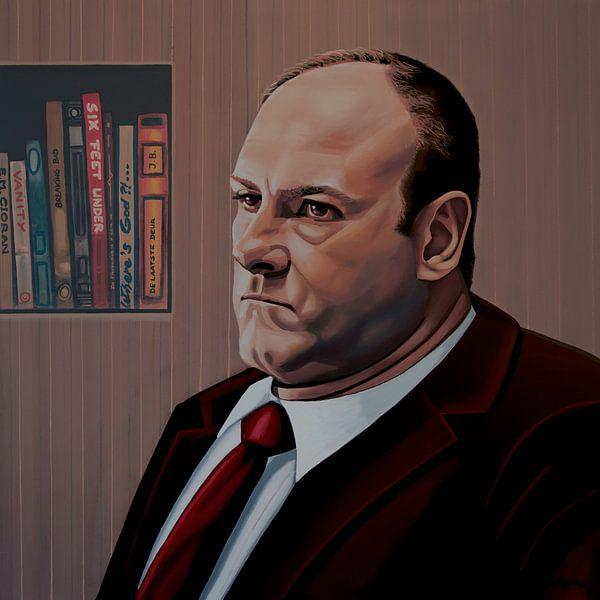 James Gandolfini als Tony Soprano Schilderij van Paul Meijering