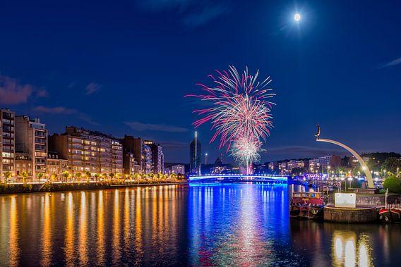 Fireworks in Liege