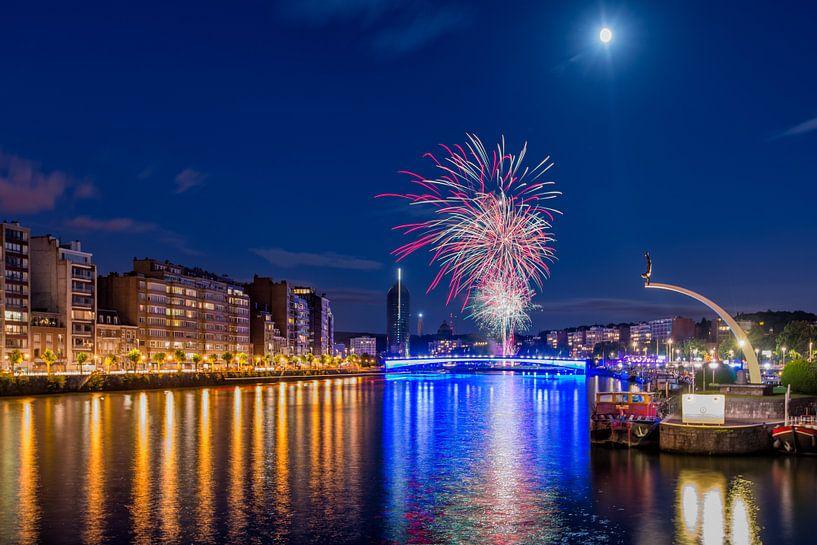 Fireworks in Liege von Bert Beckers