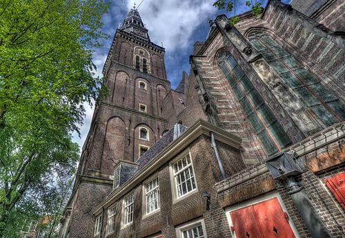 Oude Kerk in Amsterdam van Jan Kranendonk