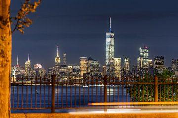 New York im Abendlicht van Kurt Krause