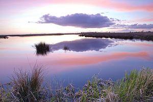 Zonsondergang over de Onlanden bij Matsloot (6) van Gerben van Dijk