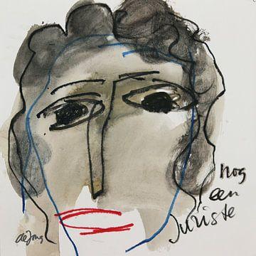 Marijke, portret, avatar von Leo de Jong