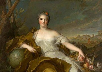 Madame Louise-Elisabeth, Herzogin von Parma - Die Erde, Jean-Marc Nattier1750