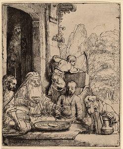 Rembrandt van Rijn  Abraham, het vermaken van de Engelen