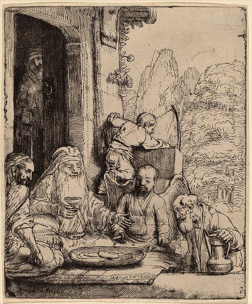 Rembrandt van Rijn  Abraham, het vermaken van de Engelen van Rembrandt van Rijn