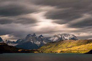 Dreigende luchten in Torres del Paine van