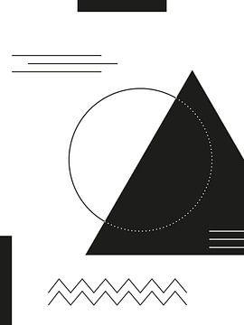 Geometrische Vormen in zwart-wit van MDRN HOME