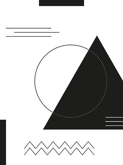 Geometrische Vormen in zwart-wit