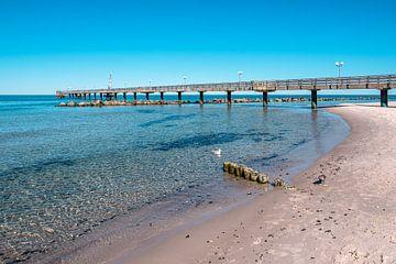 Seebrücke an der Ostseeküste in Wustrow auf dem Fischland-Darß von Rico Ködder