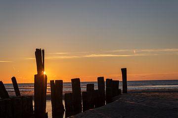 Coucher de soleil Schoorl au bord de la mer