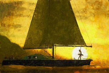 Segeln und Tanzen auf dem Wasser von Arjen Roos