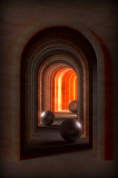 Fantasie gang met ronde bogen van Jörg Hausmann