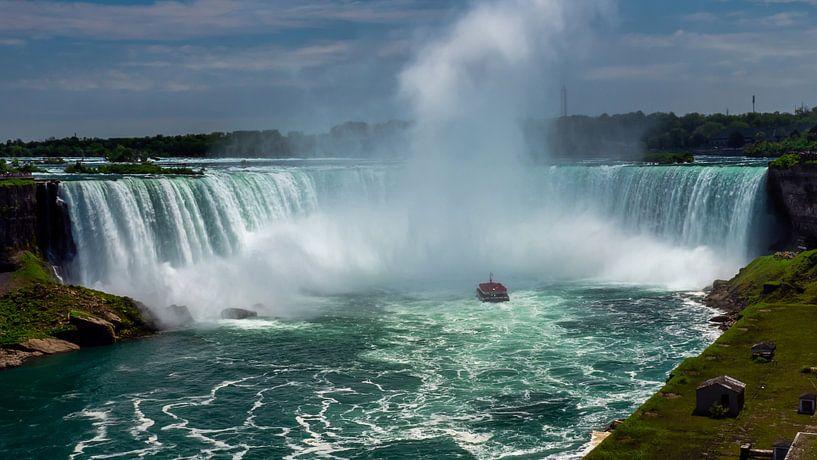 Aanzicht op de Horseshoe waterval in de Niagarawatervallen van Ed Steenhoek