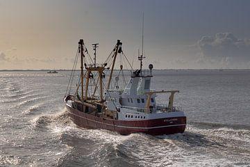 Viskotter op de Waddenzee