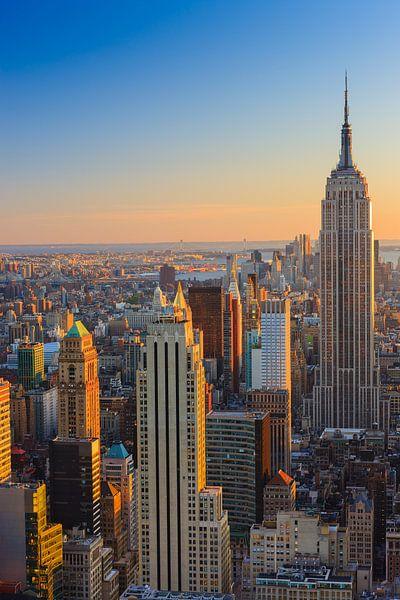 Manhattan gezien vanuit Top of the Rock, New York City van Henk Meijer Photography