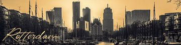 Rotterdam Skyline van Fred Leeflang
