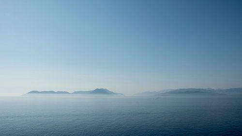 Vroeg in de ochtend, uitkijkend op Kefalonia, Griekenland