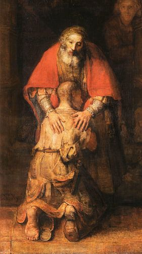 Terugkeer van de Verloren Zoon (uitsnede), Rembrandt van Rijn