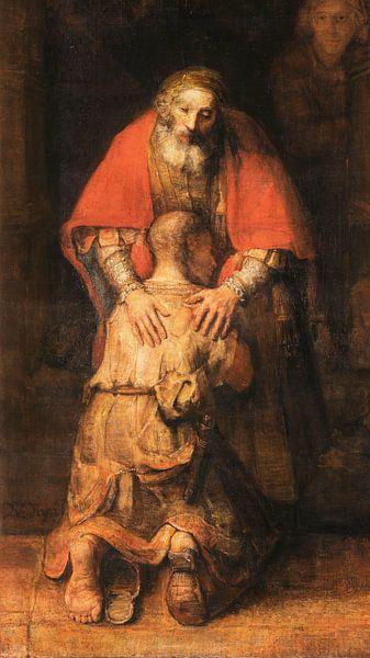 Terugkeer van de Verloren Zoon (uitsnede), Rembrandt van Rijn van Rembrandt van Rijn