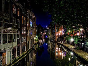 Vanuit de Gaardbrug, richting Maartensbrug, Utrecht. van George Ino