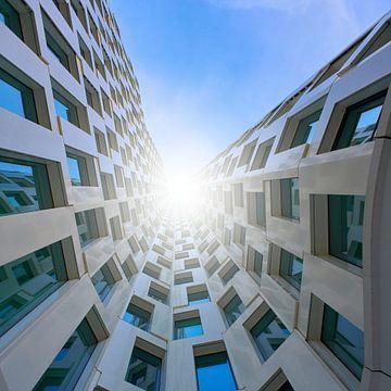 Wolkenkrabbers in Berlijn van Heiko Kueverling