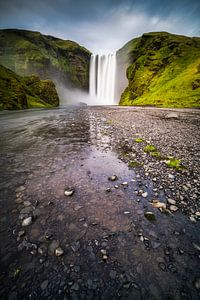 Skogafoss waterval in IJsland van